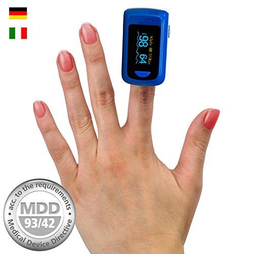 MedX5 OLED Farbdisplay,  Pulsoximeter, Fingerpulsoximeter, Pulsmessgerät, Oximeter, Pulsmesser, zertifiziertes Medizinprodukt