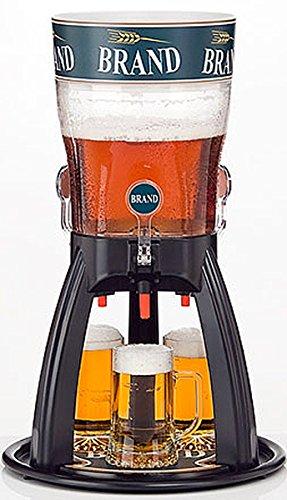 Bier-turm-spender (Dreizapftower 5 Liter Classic mit Kühlung Biertower Bierturm Zapfsäule Zapftower Schankturm)