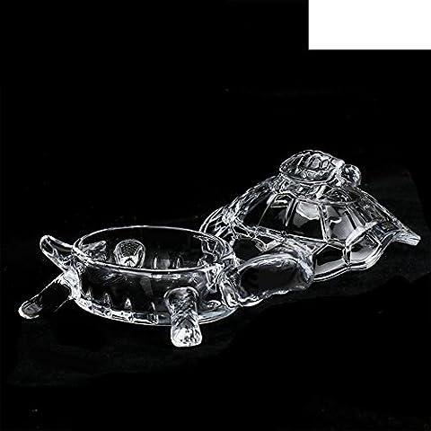 Coffret à bijoux cristal verre avec couvercle/tortue bijoux boîte ornements/ornements en verre moderne créative