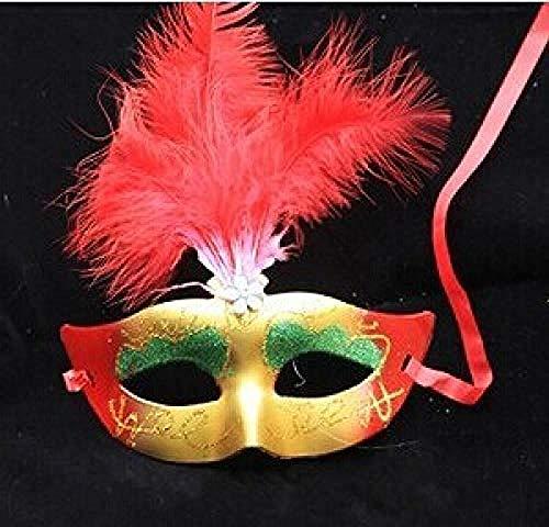 Halloween maskePartei Masken Festliche & Party Supplies Kunststoff + Federmaske Maskerade Parteien Halloween-Maske Ostern Weihnachten Aprilscherz @ Blue@Tiefes Blau