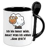 Kaffeetasse m. Löffel -