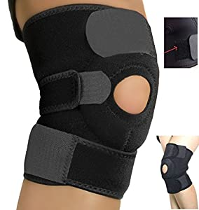 Figure And Fit Knee Support - Knee Brace Support - Open Patella Stabiliser Adjustable Brace - Neoprene Sleeve – Arthritic Pain Relief, Sports Injury Rehabilitation & Protection against Reinjury