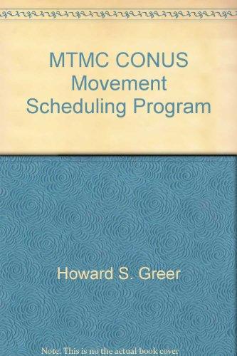 MTMC CONUS Movement Scheduling Program