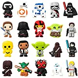 20PCS SW Cartoon Shoe Charm for Kids, Galaxy Wars Decoration Shoe Charm for Boys, Bracelet Wristband Charms for Toddlers, SW