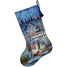Dimensions - Kit de punto de cruz para calcetín de Navidad