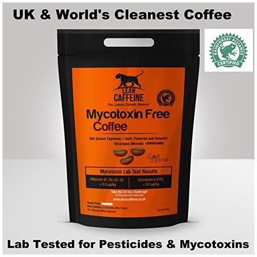 Lean Caffeine Bulletproof Coffee Ground / Ground Coffee 227 Gram | No Pesticides, Heavy Metals, Mycotoxins | Dark Roast Coffee Beans Ground – Very Low Acid Coffee | A Sublime Tasting True Keto Coffee