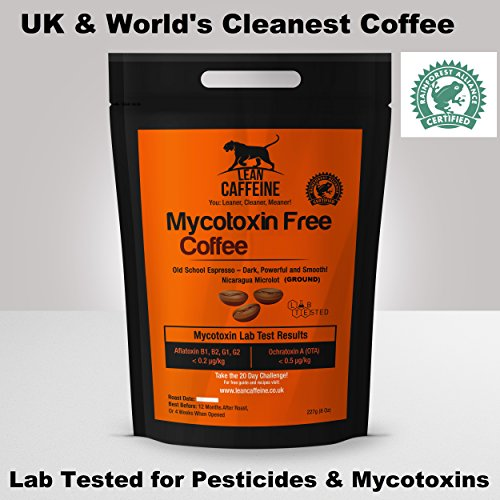 Lean Caffeine Bulletproof Coffee Ground Grounded Coffee 227g   Pesticide & Mycotoxin Free Upgraded Coffee Beans Ground  Lean Caffeine Bulletproof Coffee Ground Grounded Coffee 227g   Pesticide & Mycotoxin Free Upgraded Coffee Beans Ground 51lh M2xyUL