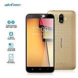 Ulefone S7 Pro Smartphone Débloqué 3G Telephone Portable Pas Cher Sans Forfait (Écran: 5 Pouces HD - 2Go RAM 16Go ROM - Quad Core 1.3GHz MT6580 - Double SIM - 3 Caméras - GPS WIFI - Android 7.0) Or