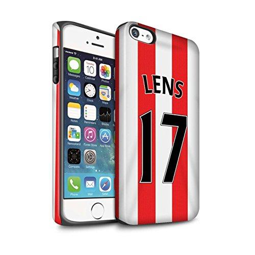 Offiziell Sunderland AFC Hülle / Matte Harten Stoßfest Case für Apple iPhone 5/5S / Pack 24pcs Muster / SAFC Trikot Home 15/16 Kollektion Lens