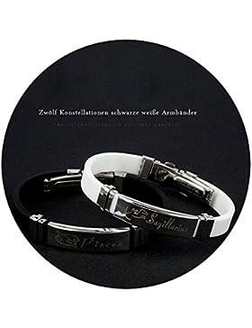 AMDXD Schmuck Paar Armband Gummi Silber Sternzeichen Paar Armbänder 20CM
