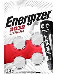 Energizer Batterie au Lithium CR2032–(Lot de 4)