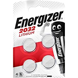 Energizer Batterie au Lithium CR2032 - (Lot de 4)
