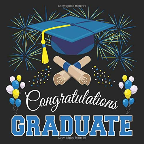 Graduation Guest Book: Congratulations Graduate GuestBook + Gift Log | Class of 2019 Graduation Party Memory Sign In Keepsake Journal | Black Blue Cover (Halloween-party-ideen Kleinkinder Für)