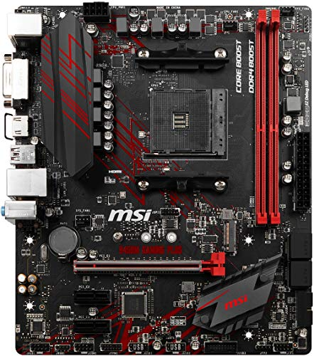 MSI B450M Gaming Plus, Sockel AM4, DDR4, HDMI, DVI-D, 1x M.2, 8x USB 3.1 Gen1 Micro-ATX Mainboard
