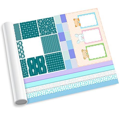 murando - Scrapbooking Baby Bastel Riesen Kit - XXL 400x50cm - Scrapbook Elemente: Deko-Motive Zum Ausschneiden und Selbstgestalten von Fotobüchern & Scrapbooking Alben - DIY - f-C-0176-ac-a