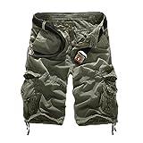 GITVIENAR Outdoor-Sport Herren elastisch kurze Hose schnell trocknende Kampfhose saugfähige Jogginghose atmungsaktive kurze Freizeithose viele Tasche