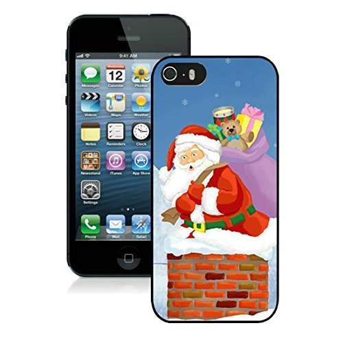 best-buy-coque-iphone-5s-coque-de-protection-en-tpu-pour-iphone-5-5s-pere-noel-2-noir