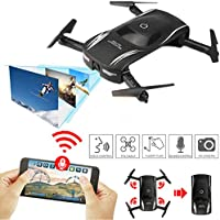 Drone Camera With Live Video, WIFI FPV Quadcopter Real Time With HD Camera Fold Foldable Drone RTF - Altitude Hold, One Key Take Off/Landing, 3D Flip, Headless Mode, APP Control, FPV RC Helicopter UAV Multicopter, Quadcopter Drone With HD Live Follow me 1 - Compare prices on radiocontrollers.eu
