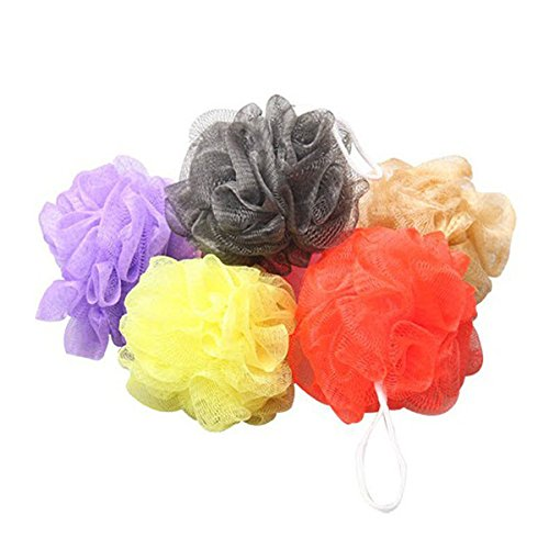 Körper Net (UEETEK 10pcs Bad Dusche Körper Peeling Blätterteig Schwamm Mesh Net Bad Kugeln Set (zufällige Farbe))