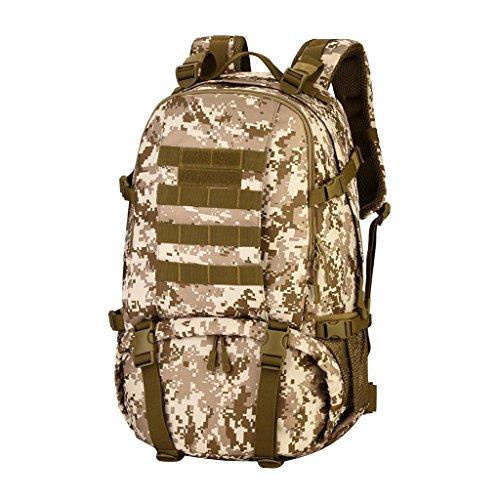 MagiDeal Sacchetto Zaino Da Campeggio Trekking Arrampicata Esercito Scuola Esterno 40L In Nylon - Deserto digitale Deserto digitale
