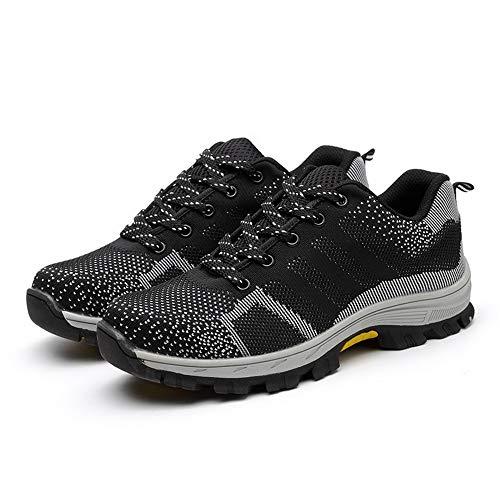 Männer und Frauen Stahlkappe Air Sicherheitsstiefel Pannensichere Arbeitsschuhe Atmungsaktive Schuhe 40