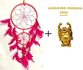 SGN Pink Colour Dream Catcher Wall Hanging - Attract Positive Dreams …