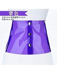 022bb5ad9d94 QIER-YD Ceinture pour Femmes Printemps et en été Tendance en Plastique  Transparent Large décoration de la Taille Sceau décoration…
