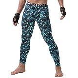 YiLianDa Uomo Modale Lunga Pantaloni Con Stampa Mimetica Calzamaglia Termica Da Sci Per Uomo