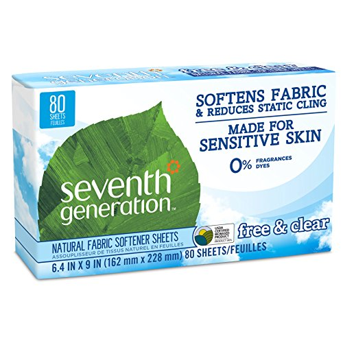 seventh-generation-22787-fre-fabric-softner-sheets-free-and-clear-65-count-pack-of-12