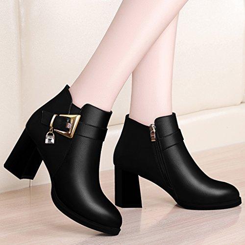 British Fashion étudiant de la femme en cuir suédé Chaussures à talon DFNPR