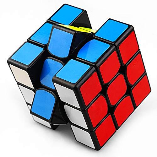 Cubo Rubik 3x3 Versione Originale magico di ultima Generazione veloce e liscio Materiale durevole non tossico per adulti e ragazzi Puzzle Super Resistente Gioco di Allenamento Mentale