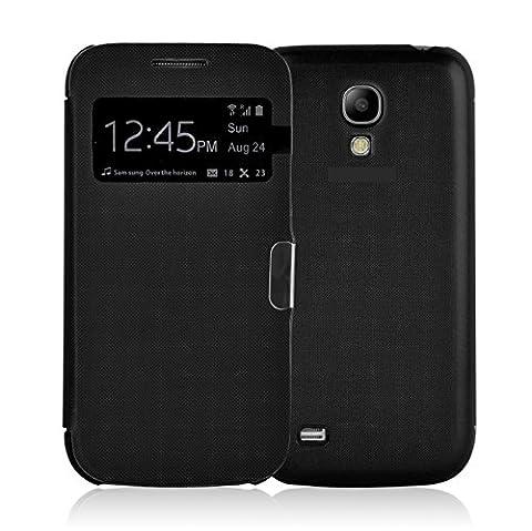 Etui Galaxy S4 Etui à fenêtre | JammyLizard | Etui flip case avec fenêtre d'ouverture pour Samsung Galaxy S4, Noir