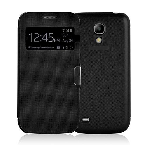 Samsung Galaxy S4 Smart View Hülle | JAMMYLIZARD Sichtfenster Schutzhülle Flip Case Handyhülle Cover mit S-View Funktion, Schwarz Handy Cover Für Samsung S4