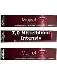 Pack 3x 50ml suie Majirel L oréal nº7.0Blond profond