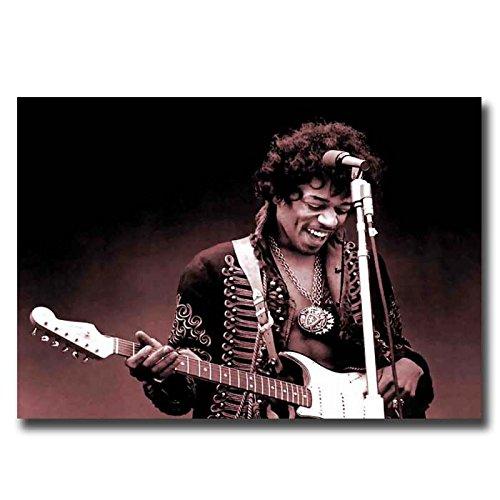 """Jimi Hendrix poster Stampa Artistica da Parete su Tela S, M, L, 3. 32""""x20"""" (80x50cm)"""