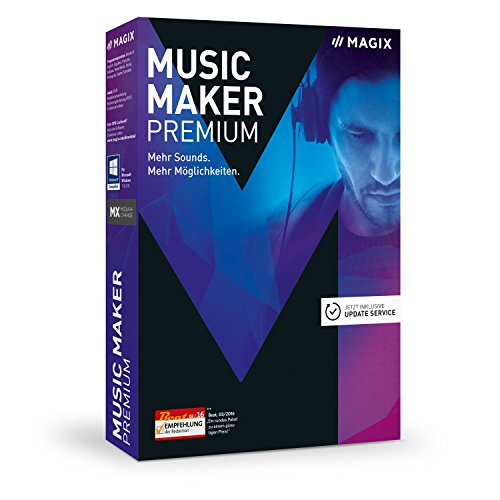 MAGIX Music Maker – 2017 Premium Edition – Musikprogramm: Eigene Musik aufnehmen, bearbeiten, remixen.