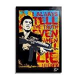 Al Pacino in Scarface/Tony Montana - Illustration Originale Encadrée, Pop-Art Peinture, Presse Artistique, Poster, Toile Imprimée, Image sur Toile, Affiche d'art, Affiche de Film