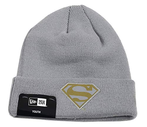 New Era Superman Beanie Kids Knit Character Grey/Gold - Child