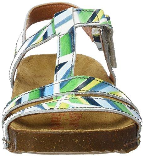 ART 0889 Fantasy i Breathe, Sandali con Cinturino alla Caviglia Donna Multicolore (Stripes)