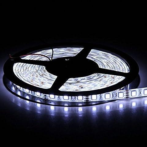 5m SMD 5630 300 LED da 12V IP65 polvere ermetico impermeabile dust proof lampadina LED Band striscia luci tubo flessibile (bianco freddo)