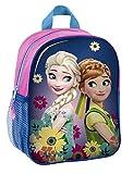 Disney Eiskönigin Frozen Anna Elsa SET 4 tlg Kindergartenrucksack Kindergartentasche / sehr leicht / geräumig / 28x22x10 cm / Kinderrucksack / inkl. Sportbeutel, Stifte Etui, Sticker von Maximustrade