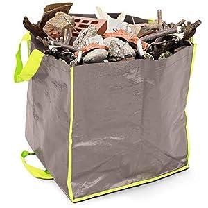 51lh5re2I3L. SS300  - Lesto Vegetales (400L–Saco para escombros y residuos de jardín, Gris
