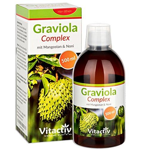 GRAVIOLA COMPLEX mit Mangostan & Noni - NEU - Die tropischen DREI für Körper, Geist und Immunsystem (500 ml)