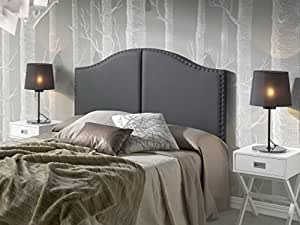 t te de lit lyon avec des punaises 160x95 noir cuisine maison. Black Bedroom Furniture Sets. Home Design Ideas