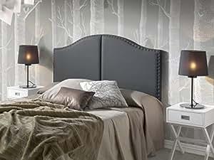t te de lit lyon avec des punaises 160x95 noir cuisine maison. Black Bedroom Furniture Sets. Home Design Ideas