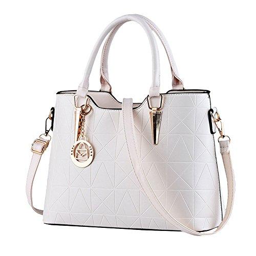 Moda Borse Donna Messenger Bag Borse in Pelle Tote Borsa Style Borsetta Beige
