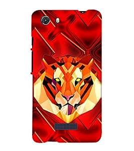 Tiger 3D Hard Polycarbonate Designer Back Case Cover for Micromax Unite 3 Q372 :: Micromax Q372 Unite 3