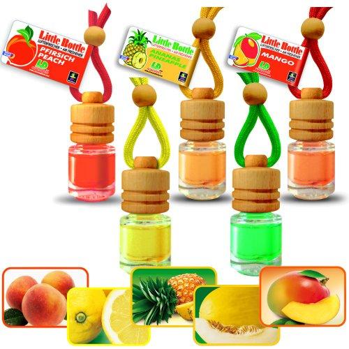 Profumo profumo Mix südfrucht Mix 5flaconi-1x Ananas Mango Melone pesca limone a 4,5ml auto profumo
