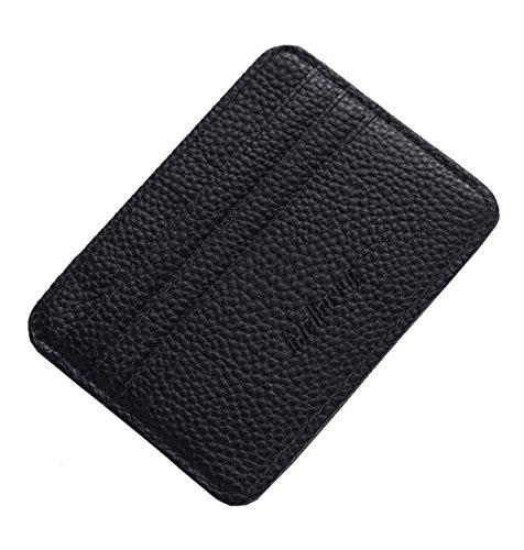 Leather Wallet Womens Card (Super Modern Men and Women PU Leather Wallet Bag Multi Card Holder RFID Blocking Wallets GENUINE SOFT LEATHER WALLET Credit Card & Banknote Pocket Slimline Wallet for Men's (Black))