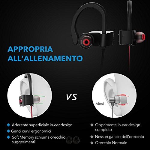 Auricolari Sport Mpow Auricolari Bluetooth IPX7 Impermeabile Bluetooth 4.1  Cuffie Sport efcc9b823ea1
